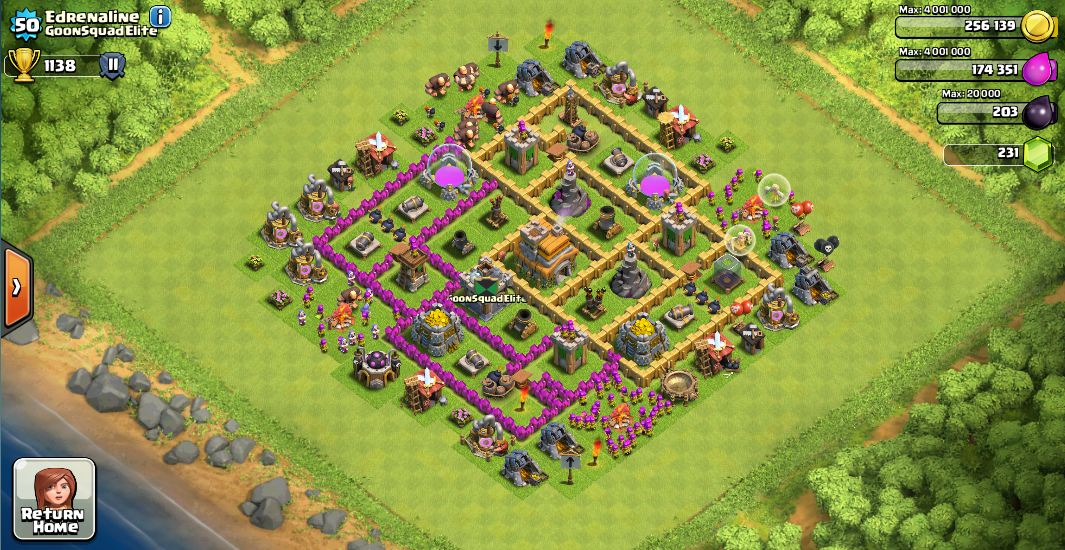 Edrenaline s war base 25 wins to date working to max walls and